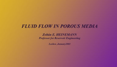 "کتاب ""Fluid Flow in Porous Media"""